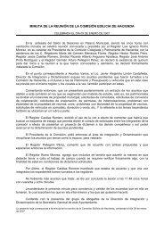 MINUTA DE LA REUNIÓN DE LA COMISIÓN EDILICIA DE HACIENDA