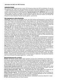 Jahresbericht 2003 der VRO Schweiz Lohnender Einsatz Mit Freude ...
