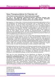 Neue Therapieverfahren für Patienten mit chronisch-entzündlichen ...