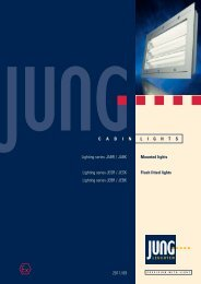 Download the JABR lights data sheet. - Jung Leuchten GmbH