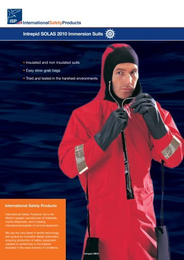Intrepid SOLAS 2010 Immersion Suits - International Safety Products ...