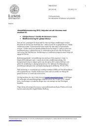 Jämställdhetssatsning 2012; Inbjudan om att ... - Lunds universitet