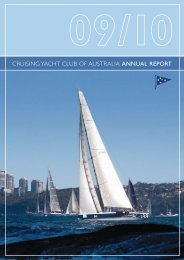 2009/10 Annual Report - Cruising Yacht Club of Australia