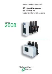 Catalog SF circuit breakers up to 40.5kV - Schneider Electric