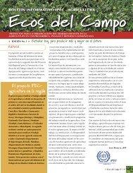 Boletín Ecos del Campo, edición N° 1, 2005