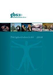 Tätigkeitsbericht 2010 - Giordano Bruno Stiftung