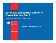 Presentación MINVU Panel Infraestructura - PMG - Descentralización