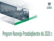 Założenia polityki państwa w obszarze gospodarki - Program ...