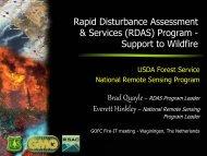 Rapid Disturbance Assessment & Services (RDAS) Program ...