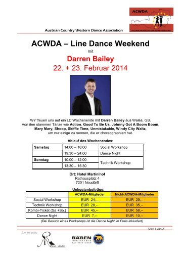 ACWDA Line Dance Weekend