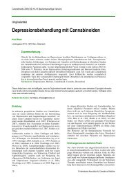 Depressionsbehandlung mit Cannabinoiden - International ...