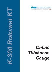 Online Thickness Gauge