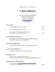 J. Britt Holbrook - Center for the Study of Interdisciplinarity