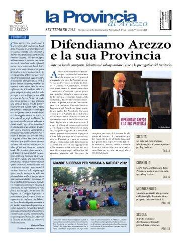 periodico settembre 2012 - Protezione Civile della Provincia di Arezzo