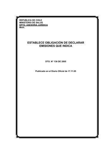 Decreto Nº138 - Asimet