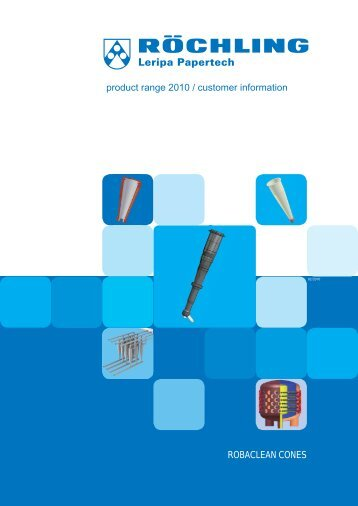 ROBACLEAN CONES product range 2010 / customer information - Qsi