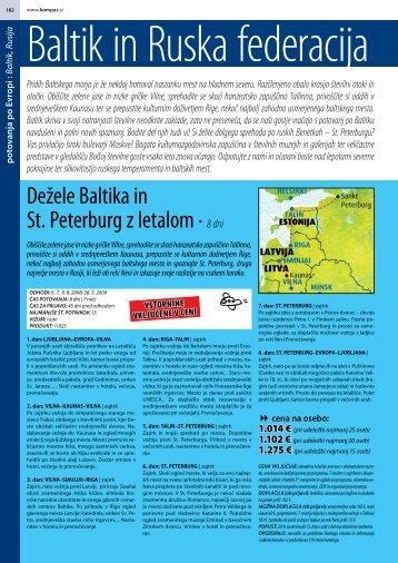 Dežele Baltika in St. Peterburg z letalom ∙ 8 dni - Kompas