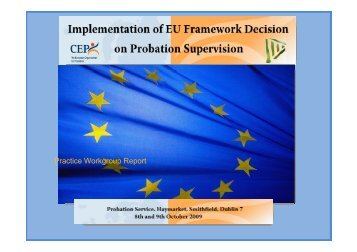 Practice - CEP, the European Organisation for Probation