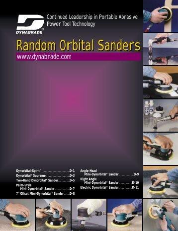 random orbital sanders d–8