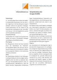 Informationen zu: Streptokokken der Gruppe B (GBS)