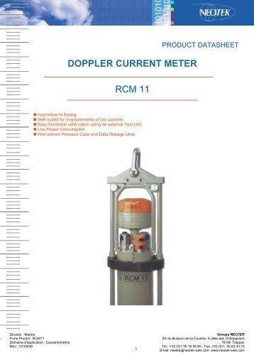 RCM 11 DOPPLER CURRENT METER