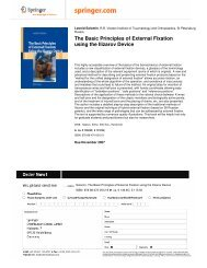 The Basic Principles of External Fixation using the Ilizarov Device