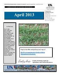 2013 April Newsletter - Bullitt County Cooperative Extension