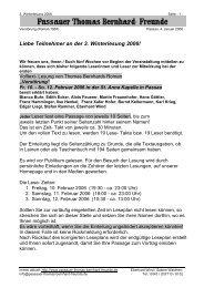 Liebe Teilnehmer an der 3. Winterlesung 2006! - Passauer Thomas ...
