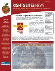 RIGHTS SITESNEWS - Discover Human Rights