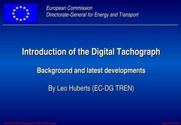 Introduction of the Digital Tachograph - Instituto de Robotica