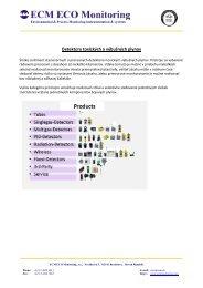 Detektory toxických a výbušných plynov - ECM ECO Monitoring