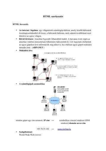 HTML szerkesztés - pedtamop412b.pte.hu