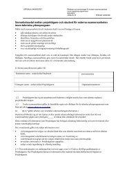 Samarbetsavtal mellan projektägare och student för externa ...