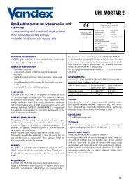 Vandex Unimortar 2 - Safeguard Europe Ltd.