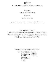 T H ¢SE de DOCTORAT de l'UNIVERSIT@ PARIS VI SpPcialitP ...