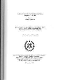 LAPORAN KEMAJUAN (PROGRESS REPORT ... - KM Ristek