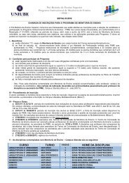 Edital de chamada para inscrição 01/2012 - Uniube
