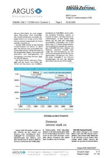 Demenz nimmt stark zu - Schweizerische Alzheimervereinigung Uri ...