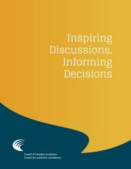 Inspiring Discussions, Informing Decisions - Council of Canadian ...