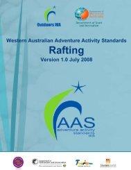 Western Australian Adventure Activity Standards ... - Outdoors WA