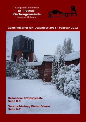 GB Dez-Feb 2011Joh - St. Petrus – Hamburg-Heimfeld