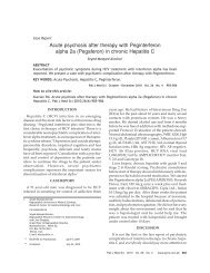 Acute psychosis after therapy with Peginterferon