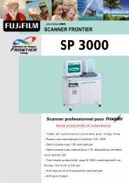Fiche produit Scanner Frontier SP 3000