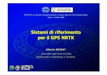 Sistemi di riferimento per il GPS NRTK - Ogs