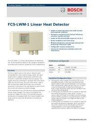 FCS‑LWM‑1 Linear Heat Detector - Bosch Security Systems