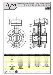 Art B31, Vulcanised Butterfly Valve, DN 50-350, PN 10-16 - Avm.no