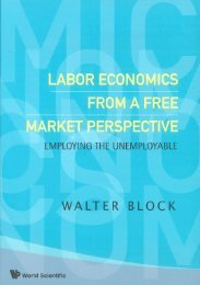 Labor Economics From a Free Market Perspective: Employing the ...