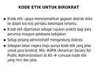 Kode etik bagi Birokrat - Kumoro.staff.ugm.ac.id