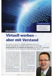 Marketing: Virtuell werben - aber mit Verstand!