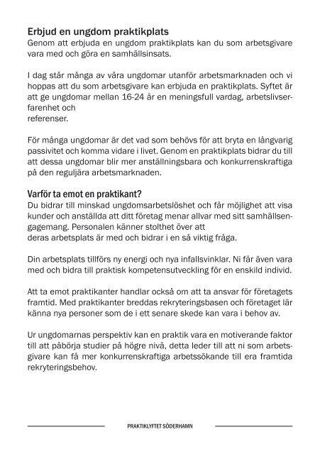 Infomationsblad - Söderhamns kommun